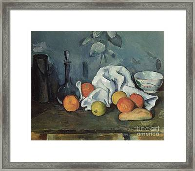 Fruits Framed Print by Paul Cezanne