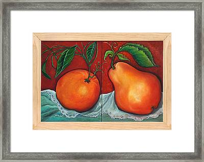Fruits Pears Framed Print