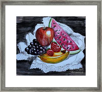 Fruits  Framed Print by Saranya Haridasan