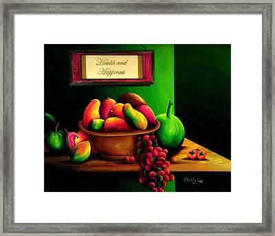 Fruits Still Life Framed Print