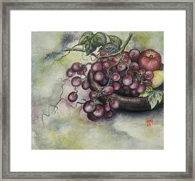 Fruits Framed Print by Tomoko Koyama