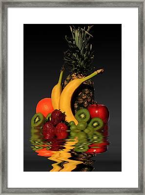 Fruity Reflections - Dark Framed Print by Shane Bechler