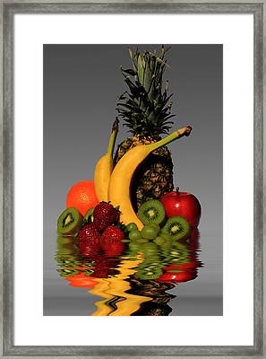 Fruity Reflections - Medium Framed Print by Shane Bechler
