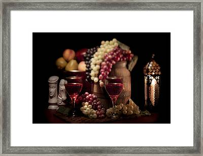 Fruity Wine Still Life Framed Print