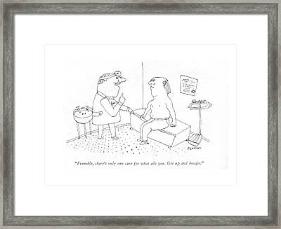 Frumble, There's Only One Cure For What Ails You Framed Print by Douglas Florian
