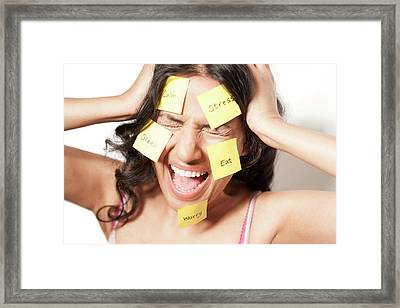 Frustrated Woman Framed Print by Ian Hooton