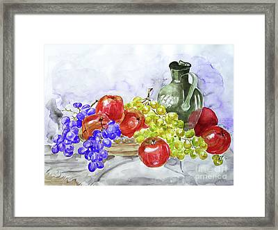 Framed Print featuring the painting Fruit After Him by Jasna Dragun