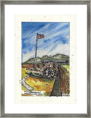 Framed Print featuring the mixed media Ft. Barrancas Cannon by Tim Oliver