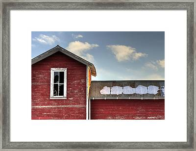 Ft Collins Barn 13493 Framed Print by Jerry Sodorff