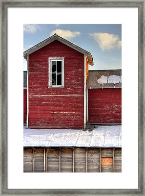 Ft Collins Barn 13496 Framed Print by Jerry Sodorff