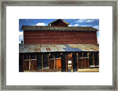 Ft Collins Barn 13553 Framed Print by Jerry Sodorff
