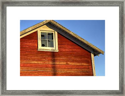 Ft Collins Barn Sunset 2 13508 Framed Print by Jerry Sodorff