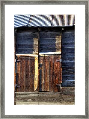 Ft Collins Barn Tin 13547 Framed Print by Jerry Sodorff