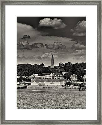 Ft Griswald Monument Black And White Framed Print by Joshua House