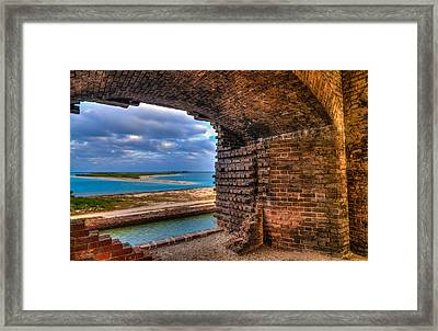 Ft. Jefferson And Its Horizon 2 Framed Print by Andres Leon