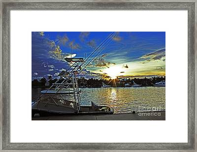 Ft. Lauderdale Sunset Framed Print by Alison Tomich