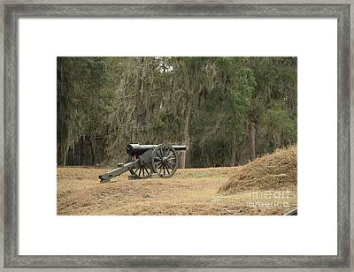 Ft. Mcallister Cannon 2 In Color Framed Print