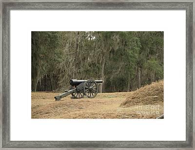 Ft. Mcallister Cannon 2 In Color Framed Print