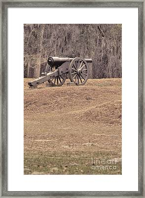 Ft. Mcallister Cannon 2 View 2 Framed Print