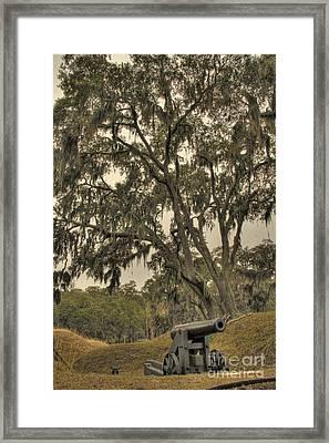Ft. Mcallister Cannon 3 Framed Print