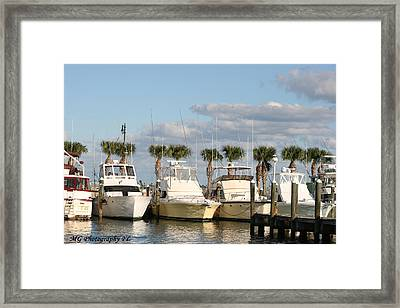 Ft. Pierce Marina Framed Print