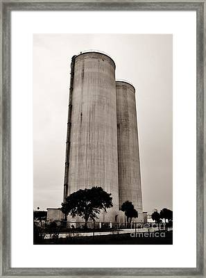 Ft. Pierce Silos Framed Print by Lynda Dawson-Youngclaus