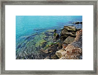 Ft Pierce Waters Framed Print by Rachael M