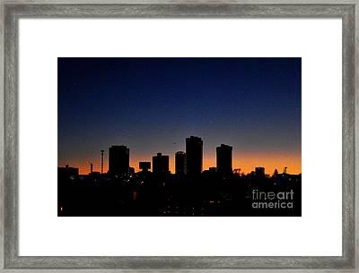 Ft Worth Skyline Framed Print