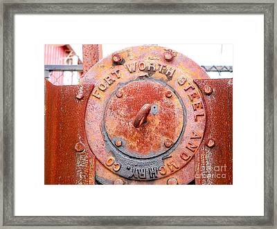 Ft Worth Steel Framed Print by Angela Wright