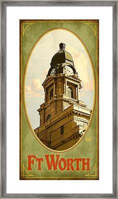 Ft. Worth Texas Framed Print
