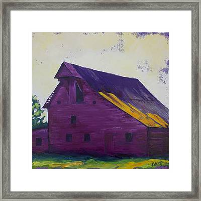 Fuchsia Barn Framed Print by Kristin Whitney