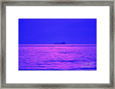 Fuchsia Flock And Freighter Framed Print by Al Powell Photography USA