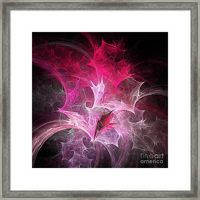 Fuchsia Fountain Abstract Framed Print by Andee Design