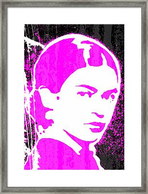 Framed Print featuring the mixed media Fuchsia Frida by Michelle Dallocchio