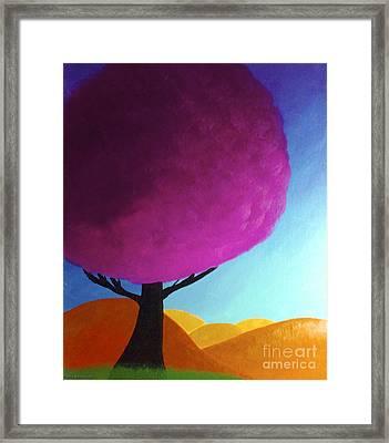 Fuchsia Tree Framed Print by Anita Lewis