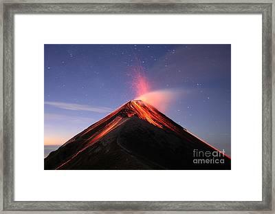 Fuego At Sunrise Framed Print by Kevin Sebold