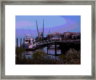 Framed Print featuring the painting Old Brunswick Fuel Dock by Laura Ragland