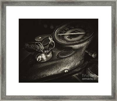 Fuel Tank Speedometer Ignition Switch Keys Framed Print