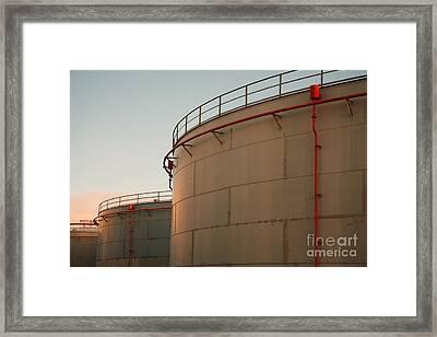 Fuel Tanks Framed Print by Gaspar Avila