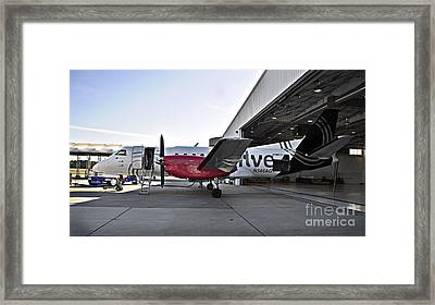 Fueling Up Framed Print by Diane E Berry