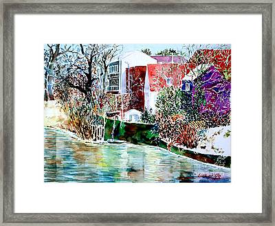 Framed Print featuring the painting Fuert Eastern Riverside Of Rednitz by Alfred Motzer