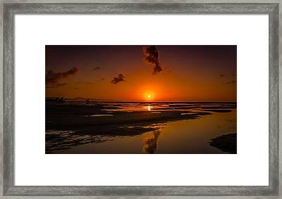 Fuerteventuera Beach Sunrise Reflections Framed Print