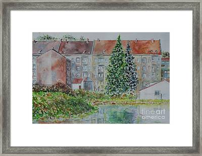 Framed Print featuring the painting Fuerth Flooded Mead by Alfred Motzer