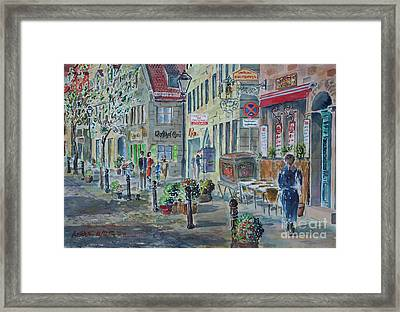 Framed Print featuring the painting Fuerth Gustavstrasse by Alfred Motzer