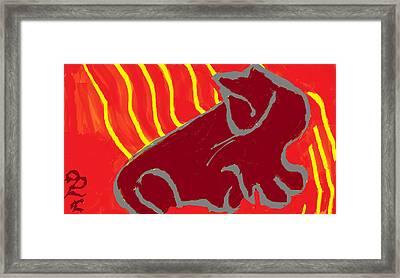 Fugal Innie  Framed Print