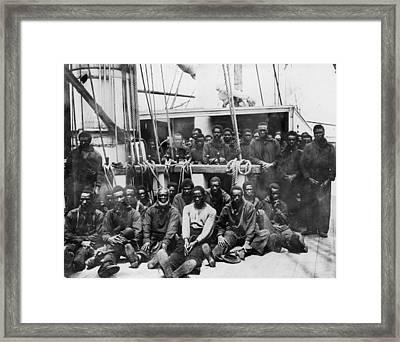 Fugitive Slaves, 1862 Framed Print