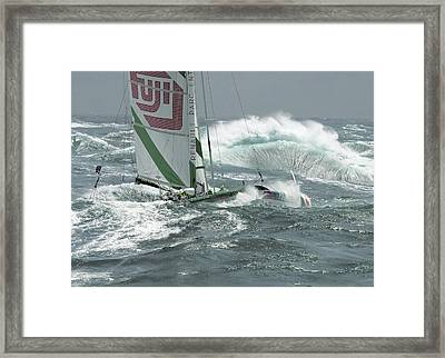 Fuji At Ushant Framed Print by Gilles Martin-Raget