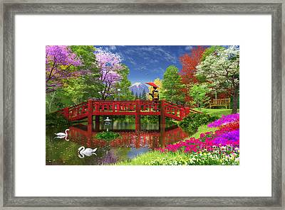 Fuji Lake Framed Print