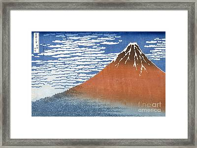 Fuji Mountains In Clear Weather Framed Print by Hokusai