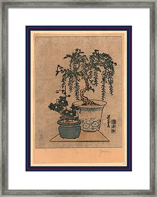 Fuji No Hachiue, Potted Wisteria. Between 1818 And 1844 Framed Print by Eisen, Keisai (ikeda Yoshinobu) (1790-1848), Japanese